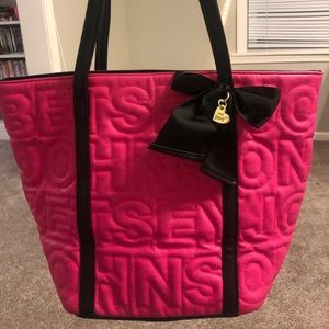 Hot pink Betsy Johnson purse